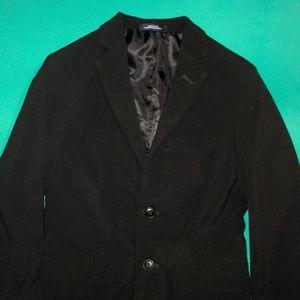 Euc boys 8 black chaps jacket